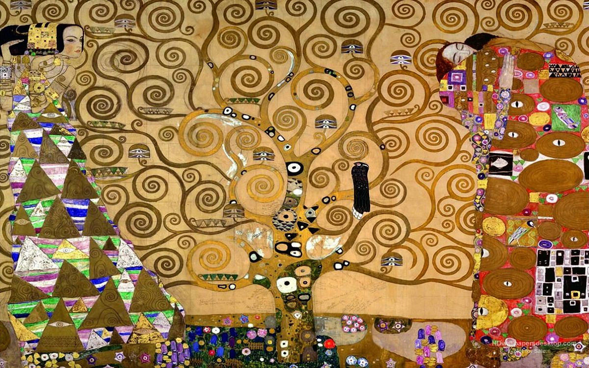 Gustav Klimt, The Tree of Life, 1909, oil on canvas,  Museum of Applied Arts, Vienna.