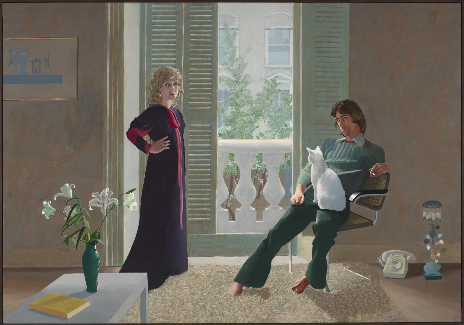 David Hockney, Mr and Mrs Clark and Percy, 1970-1971