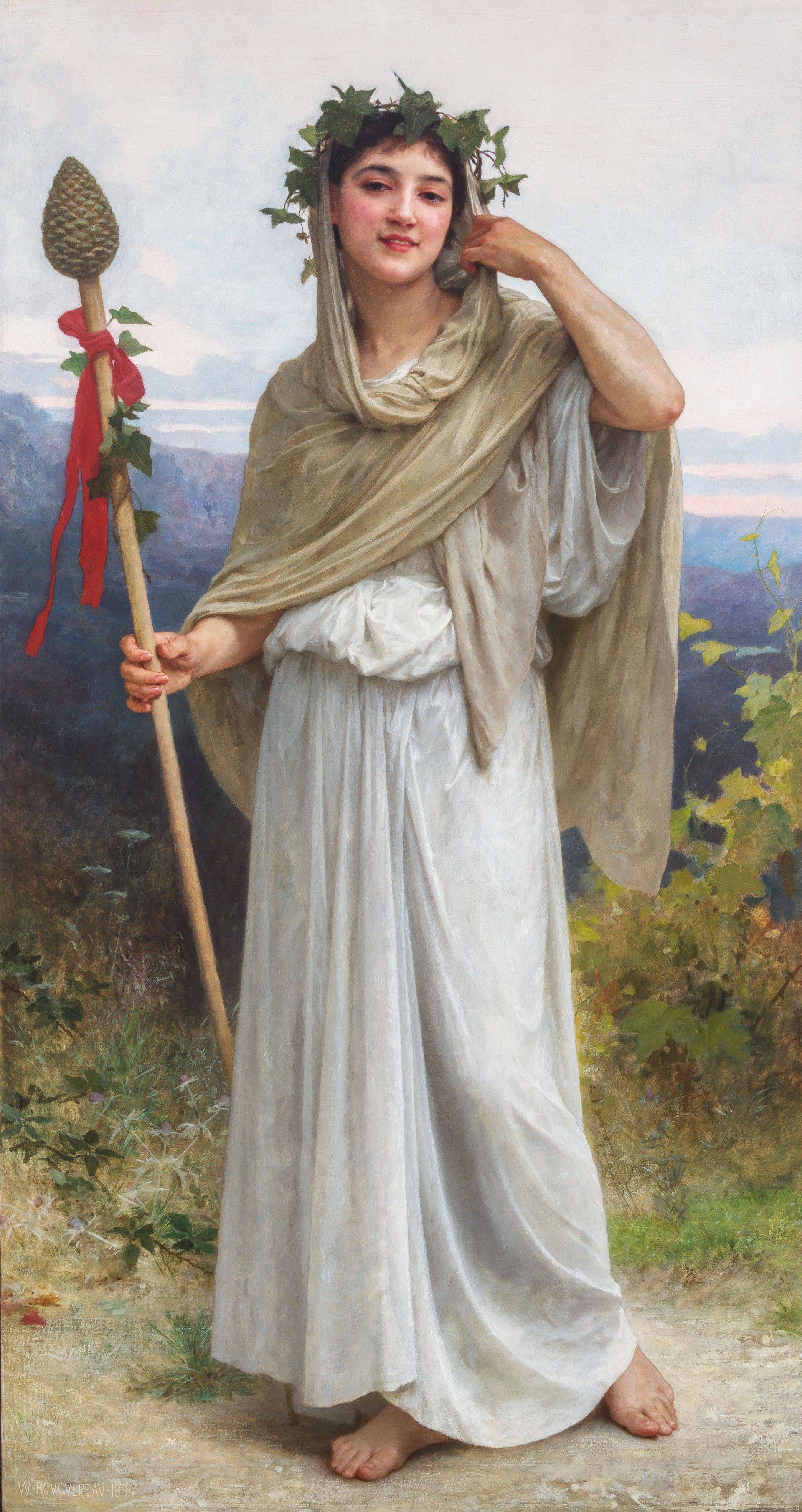 A Priestess of Bacchus by William Bouguereau