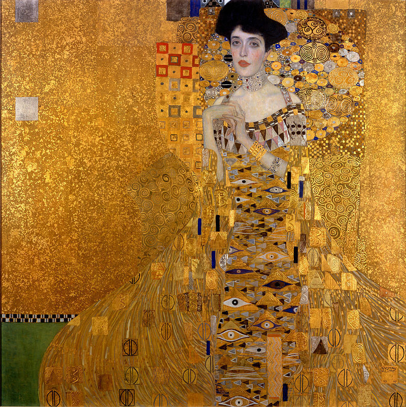 Portrait of Adele Bloch-Bauer I, also called The Lady in Gold or The Woman in Gold by Gustav Klimmt, 1907