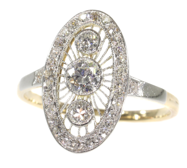 Beautiful antique engagement rings at Gallerease
