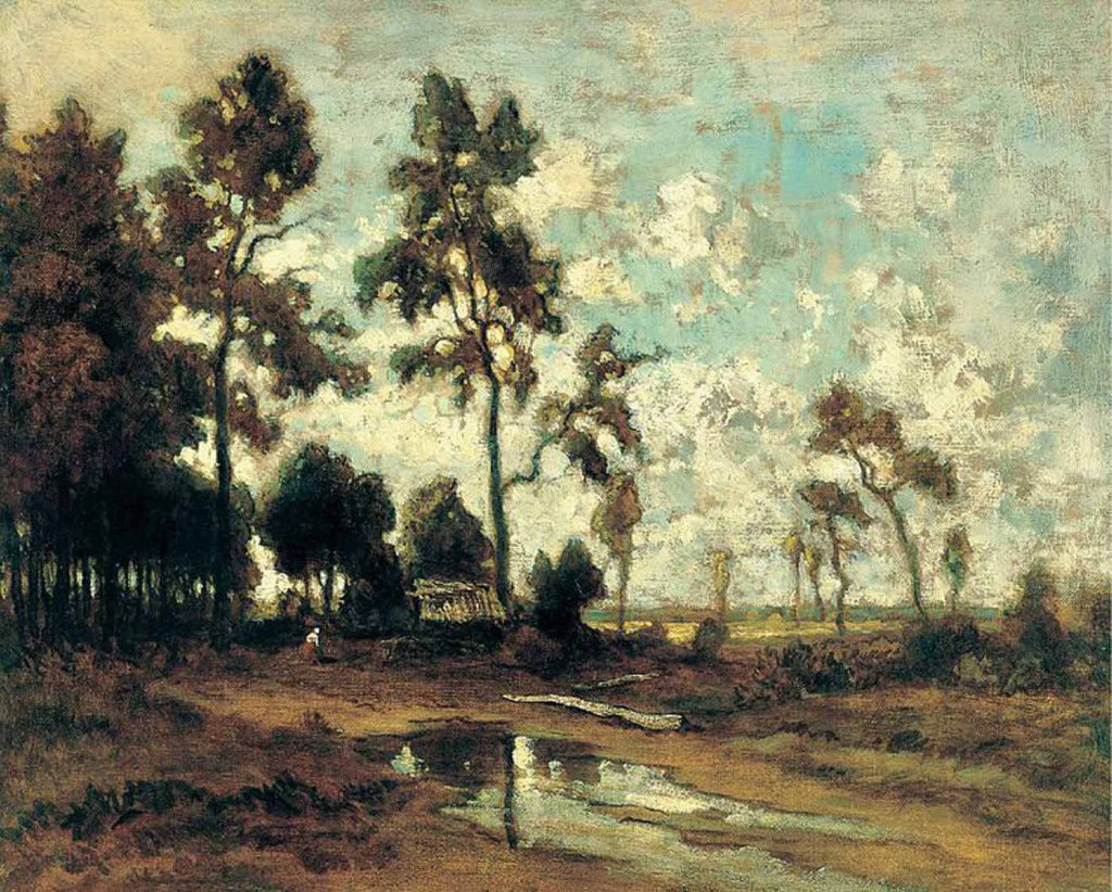 Barbizon School: Théodore Rousseau, Forest of Fontainebleau, ca. 1855,  Museo Thyssen-Bornemisza, Madrid
