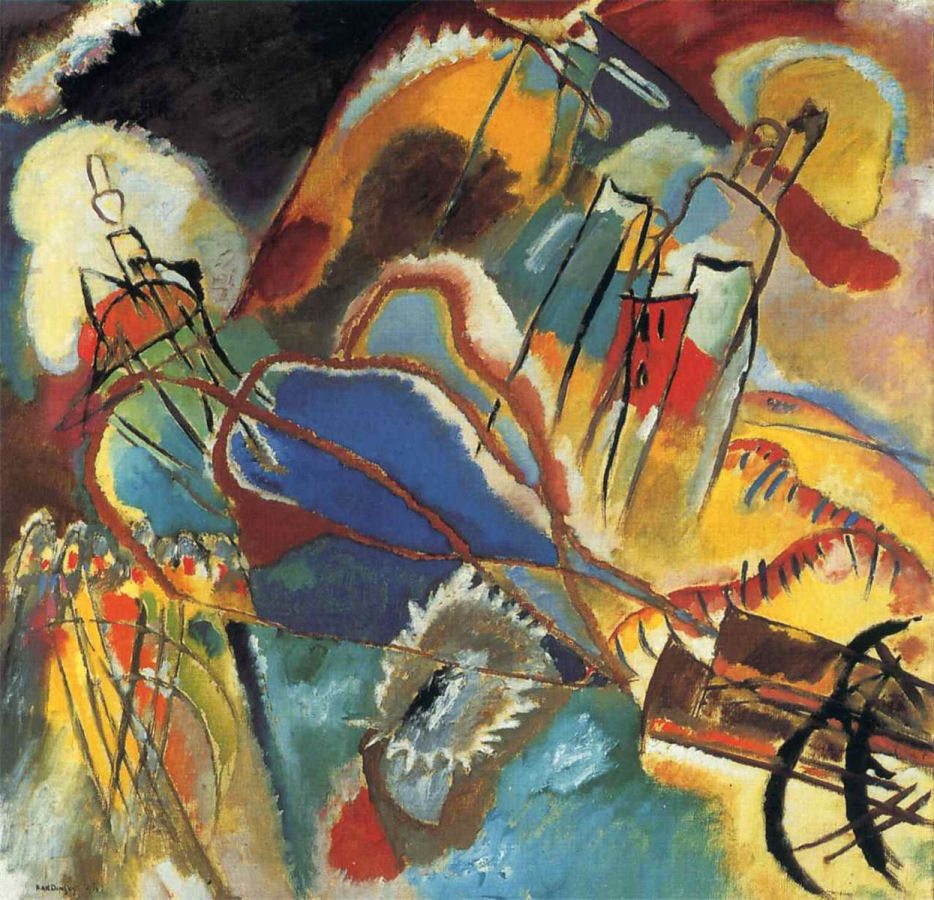Abstract painting by Vassily Kandinsky, Improvisation 30 (Cannons), 1913