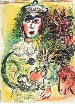 Le Clown Fleuri by Marc Chagall