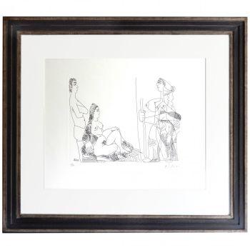 Couple et Voyageuse by Pablo Picasso