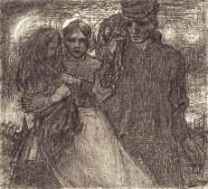 A Peasant Family, Katwijk by Jan Toorop