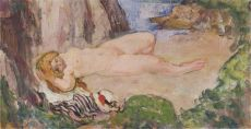 Nu Allonge by Henri Baptiste Lebasque