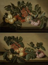A PAIR OF FRUIT STILL LIFES by BARTHOLOMEUS ASSTEYN