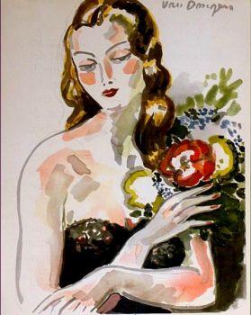 Fille au Fleurs by Kees van Dongen