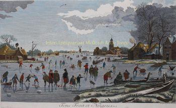 Dutch ice skating scene  by Aert van der Neer