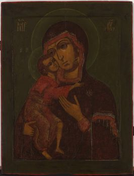 1A The Mother of God Eleousa  by Unknown Artist