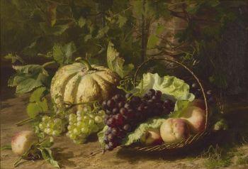 Still life with fruit by Geradina Jacoba van de Sande Bakhuyzen