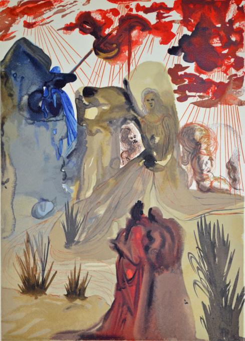 Divina commedia purgatorio 28 by Salvador Dali