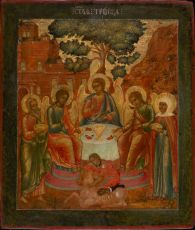 Russian Icon: The Old Testament Trinity by Unknown Artist