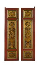 Qajar Lacquer doors by Unknown Artist