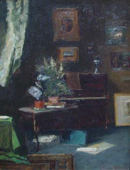My studio in Bruxelles by Carel Nicolaas Storm van 's Gravesande