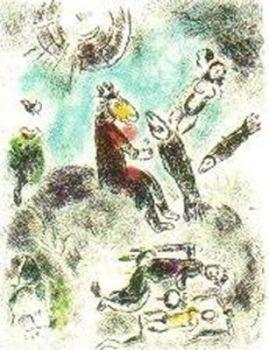 """Plate 4 (""""Celui qui dit les Choses sans rien dire"""") by Marc Chagall"""