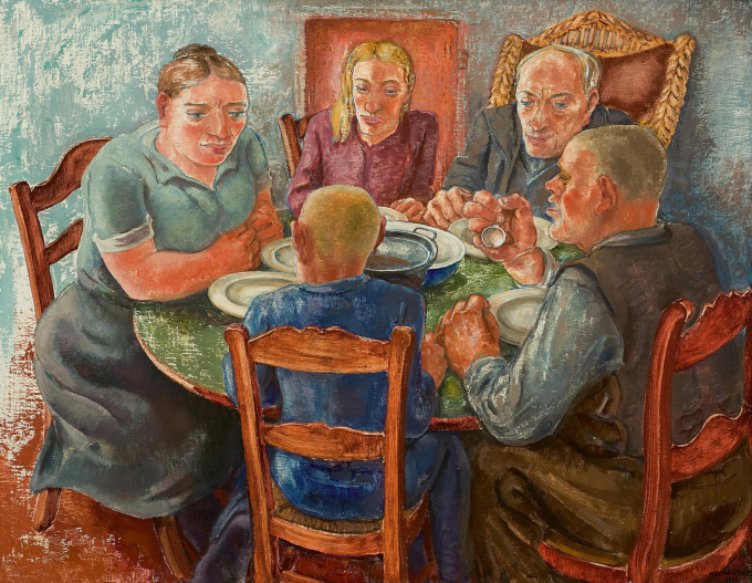 Peasants at the table by Harmen Meurs