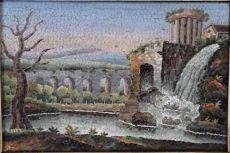 Grand Tour Souvenir: Micromosaic Vesta Temple at Tivoli by Unknown Artist