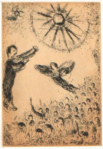 Plate 17 (Psalms of David) by Marc Chagall