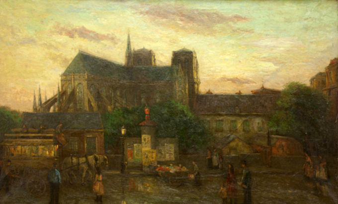 Cityview of Paris with the Notre Dame by Etienne Bosch
