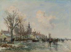 Winterlandscape (Overschie) by Johan Barthold Jongkind