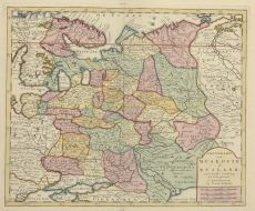 Russia map by Tirion, Isaak (1705 - 1765)