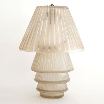 """Table lamp Lalique """"Gavarnie"""" by René Lalique"""
