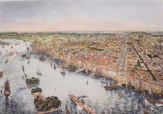 Philadelphia and the Delaware river  by  Gustav Matter