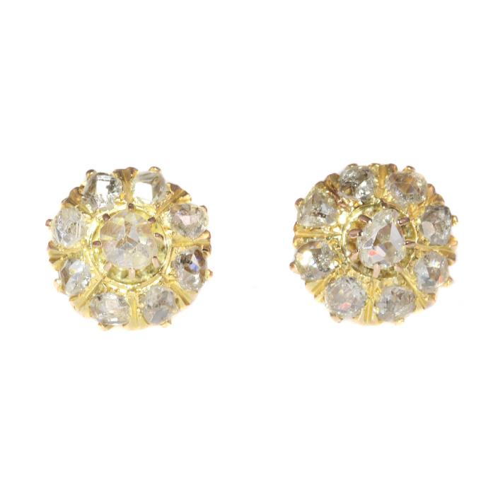 Antique Victorian diamond earstuds by Unknown Artist