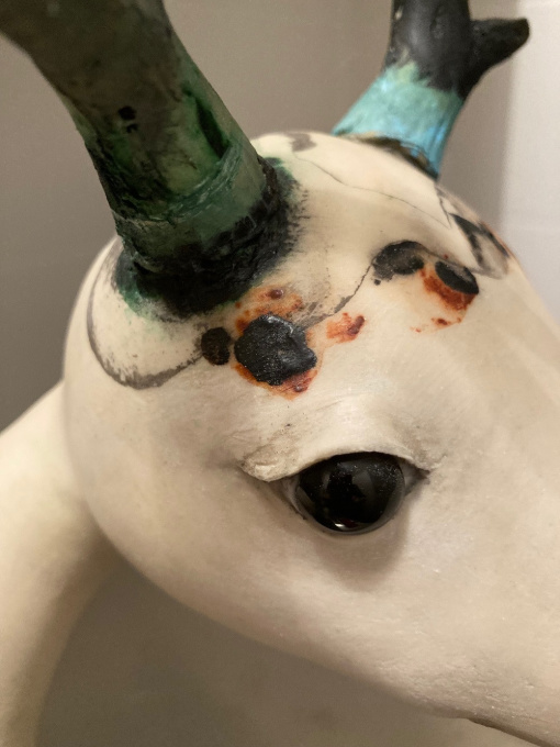 Odd Mixed Media Sculpture In Stock by Corjan Nodelijk