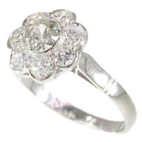 Fifties Vintage Diamond Engagement Ring Platinum 1.32 TCW by Unknown