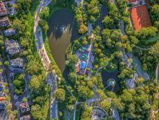 Vondelpark - Amsterdam Aerials by Jeffrey Milstein