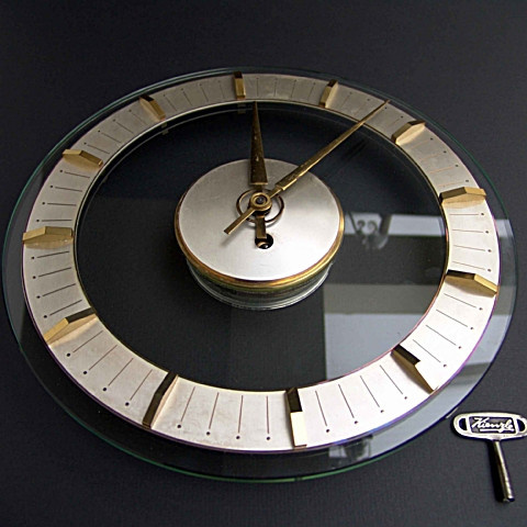 Kienzie Art deco wall clock by Unknown Artist