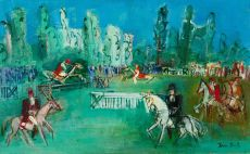 Les courses d'Obstacles  by Jean Dufy