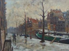 Winter on the Prinsengracht, Amsterdam, Holland