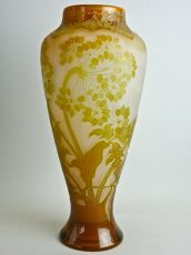 Hogweed Vase by Emile Gallé