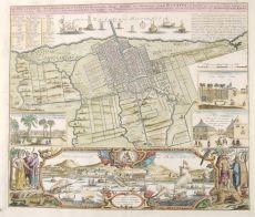 Der Hollaendisch - Ostindianischen Compagnie Weltberuhmte Haupt- Handels und Niederlags - Stadt Batavia by Homann Heirs