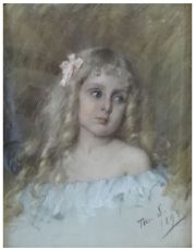Girl with curls by Thérèse Schwartze