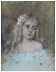 Girl with curls by Thérèse Schwartze