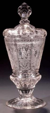 Silezian Goblet with Cover by Unknown Artist