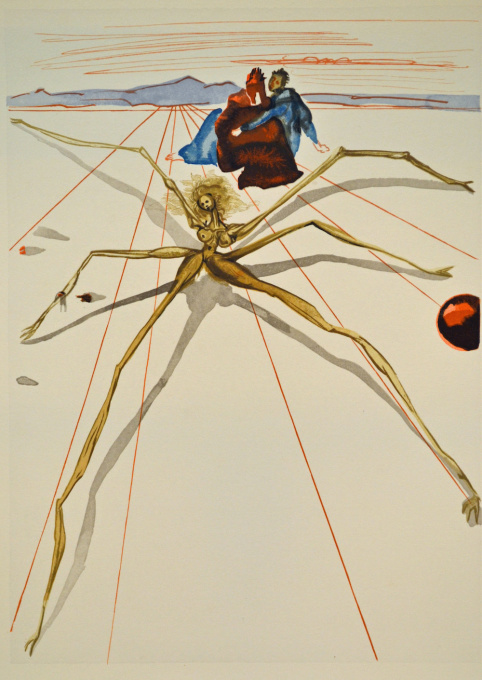 Divina commedia purgatorio 17 by Salvador Dali