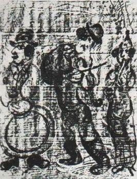 Les Musiciens Vagabonds by Marc Chagall