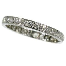 Platinum eternity band from the Fifties set with diamonds by Unknown Artist