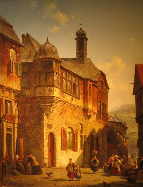 Jugengasse in Salzburg by Jacques François Joseph Carabain