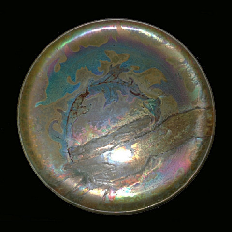 Art nouveau plate by Massier by Clement Massier