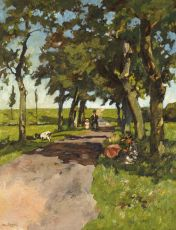 A summer day near the beach of Loosduinen by Willem de Zwart