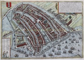 Amsterdam  by  Braun en Hogenberg