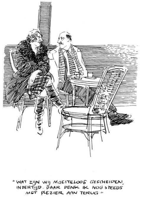 Wat zijn wij moeiteloos gescheiden indertijd. Daar denk ik nog steeds met plezier aan terug by Peter van Straaten
