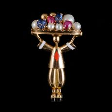 Harlequin brooch by Unknown Artist